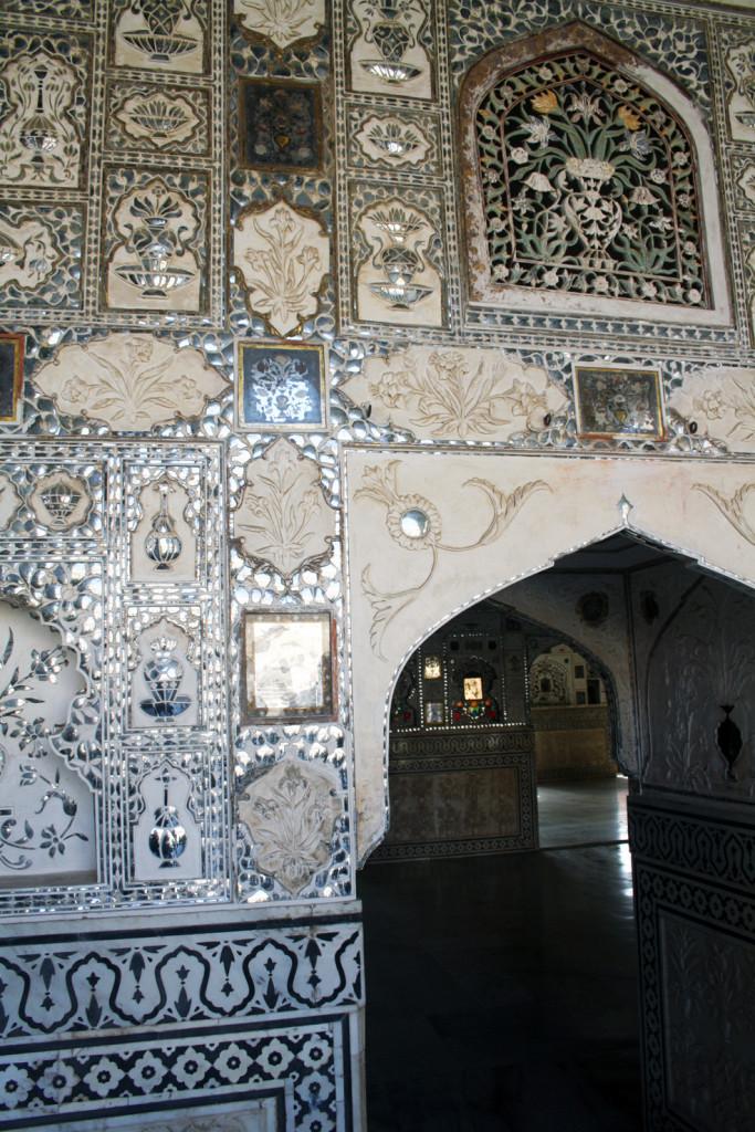 spiegelsaal, Amber Palace Jaipur, Trolley-Tourist