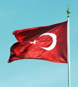 tuerkische Fahne, Türkei, Trolley-tourist