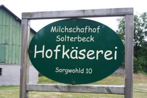 solterbeck-schild, Schleswig-holstein-milchschafhof-solterbeck, trolley-tourist.de