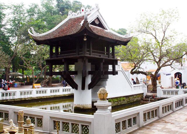 hanoi-ein-saeulen-pagode-trolley-tourist-sehenswuerdigkeiten